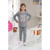 Zeyzey Baskılı Kız Çocuk Pijama Takım 7385