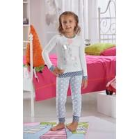 Zeyzey Baskılı Kız Çocuk Pijama Takımı 7566