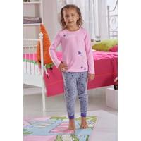 Zeyzey Baskılı Kız Çocuk Pijama Takım 7570