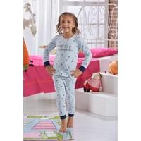 Zeyzey Baskılı Kız Çocuk Pijama Takımı 7578