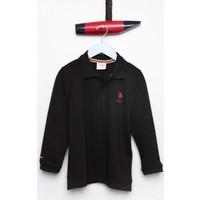 U.S. Polo Assn. Erkek Çocuk Tp01Sk7 Sweatshirt Siyah