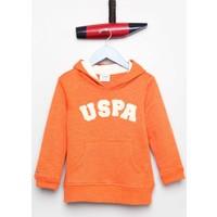 U.S. Polo Assn. Erkek Çocuk Jaxelsk7 Sweatshirt Turuncu