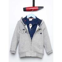 U.S. Polo Assn. Erkek Çocuk Jaxsk7 Sweatshirt Gri