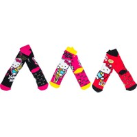 Hello Kitty HK5141 Çocuk 3'lü Havlu Soket Çorap