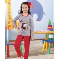 Serra Star Kız Çocuk Pijama Takımı Kırmızı