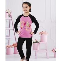 Serra Star Kız Çocuk Pijama Takımı Siyah