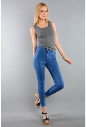 Rodin Hills Mavi Kadın Kot Pantolon Yüksek Bel 2500