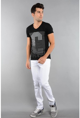 Rodin Hills Beyaz Erkek Kot Pantolon 921