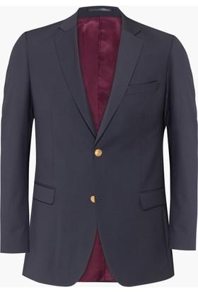 Hateko Altınyıldız Füme Slim Fit Blazer Yün Erkek Ceket