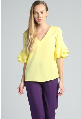 Yukimay Newyork Sarı Bluz