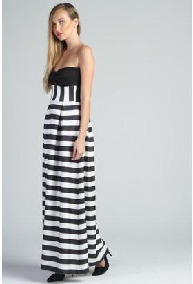 Yukimay Newyork Çizgili Elbise