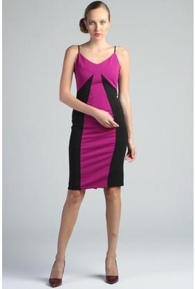 Yukimay Newyork Bloklu Elbise