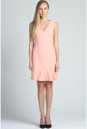 Yukimay Newyork Volanlı Yavruağzı Elbise
