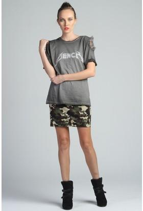 Yukimay Newyork Yıkamalı Omuz Detaylı Tshirt