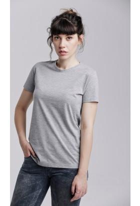 Kuun Basic Klasik Kadın Bisiklet Yaka Tshirt
