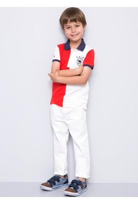 U.S. Polo Assn. Erkek Çocuk Mikekids7Y-Ing Pantolon Beyaz