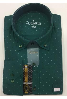 Varetta Klasik Kesim Erkek Gömlek Yeşil