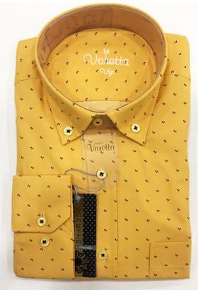 Varetta Klasik Kesim Erkek Gömlek Sarı