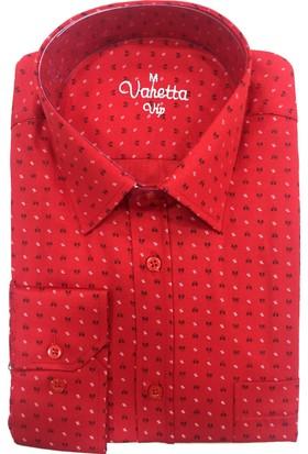 Varetta Klasik Kesim Erkek Gömlek Kırmızı
