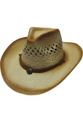 Laslusa Üstü İpli Ayarlanabilir Kovboy Hasır Fötr Şapka