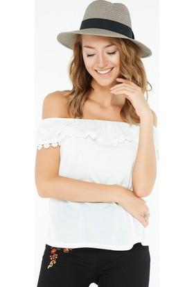 FullaModa Hasır Şapka 17YEREN00161