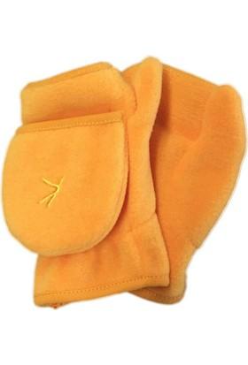 Karamela Polar Parmaksız Eldiven Sarı