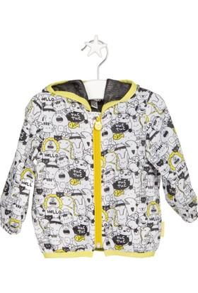 Tuc Tuc Çocuk Yağmurluk Crazy Lemons Beyaz Desenli