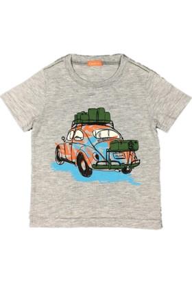 Karamela Çocuk T-shirt Woswos Gri Melanj
