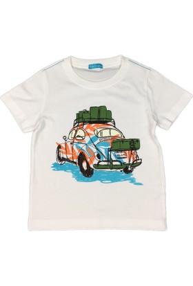 Karamela Çocuk T-shirt Woswos Beyaz