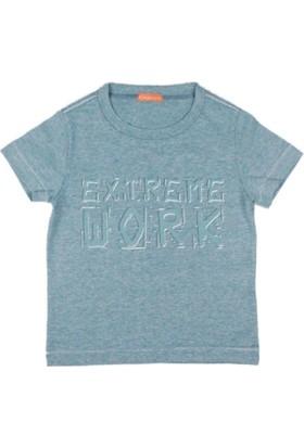 Karamela Erkek Çocuk T-shirt Extreme Work Baskı Yeşil