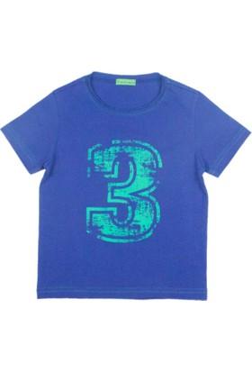 Karamela Erkek Çocuk T-shirt 3 Baskı Saks