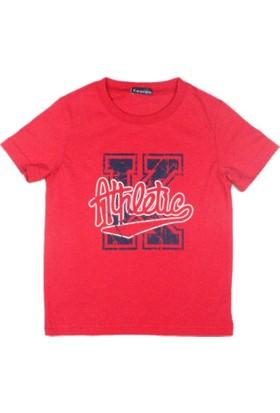 Karamela Erkek Çocuk T-shirt K Athletic Baskı Kırmızı
