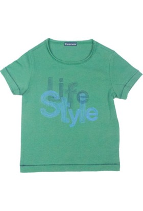 Karamela Çocuk T-shirt Life Style Yeşil
