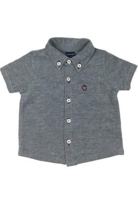 Karamela Polo Yaka T-shirt İndigo Melanj
