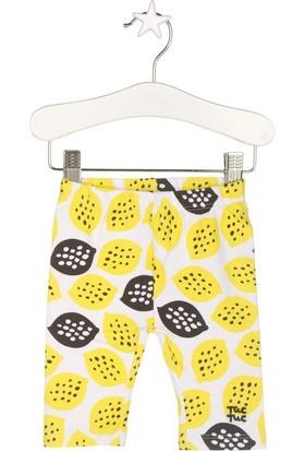 Tuc Tuc Limon Baskılı Tayt Crazy Lemons Sarı Desenli