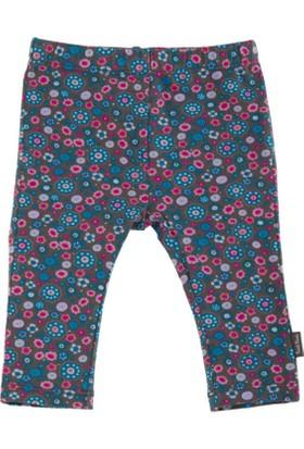Tuc Tuc Baskılı Tayt Pantolon Miss Cool Haki - Fuşya Çiçekli