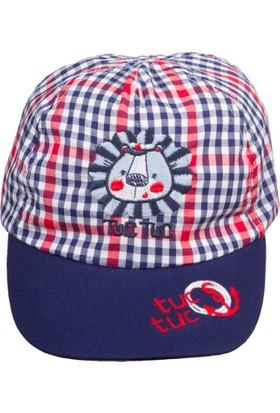 Tuc Tuc Ekose Kep Şapka All Aboard Lacivert - Kırmızı Ekose