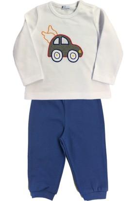 O Piti Piti Arabalı Pijama Beyaz - Saks