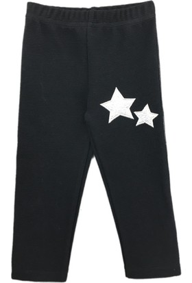 Karamela Kız Çocuk Pantolon Yıldız Siyah
