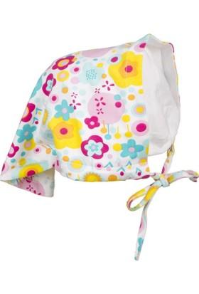Tuc Tuc Kız Çocuk Bandana Bon Voyage Beyaz Çiçekli