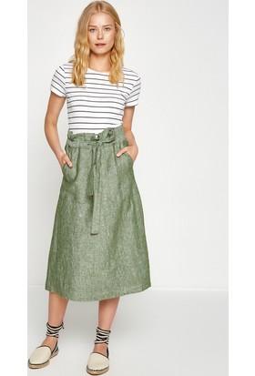 Koton Kadın Beli Bağlamalı Etek Yeşil