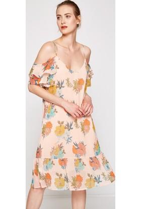 Koton Kadın Çiçekli Elbise Pembe
