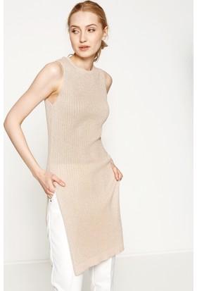Koton Kadın Yırtmaç Detaylı Elbise Pembe
