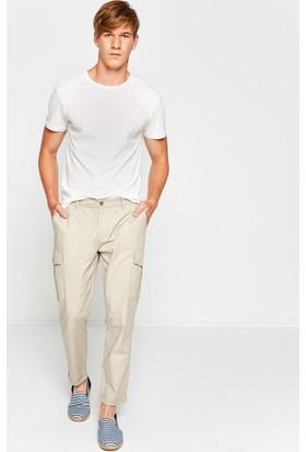 Koton Erkek Cep Detaylı Pantolon Ekru