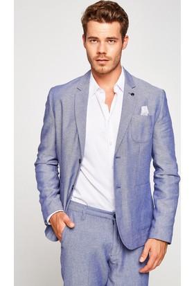 Koton Erkek Cep Detaylı Ceket Mavi