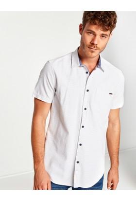 Koton Erkek Cep Detaylı Gömlek Beyaz
