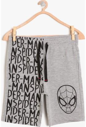 Koton Erkek Çocuk Spiderman Baskılı Şort Gri
