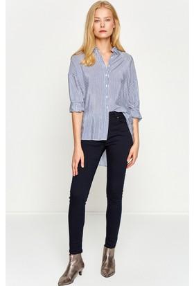 Koton Kadın Cep Detaylı Pantolon Lacivert
