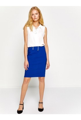 Koton Kadın Normal Bel Etek Mavi