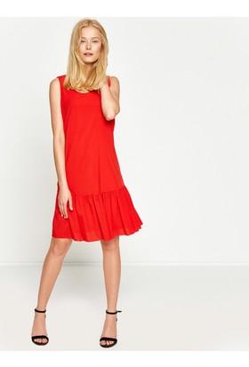 Koton Kadın Kolsuz Elbise Kırmızı